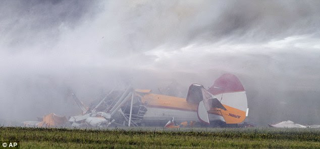 Crash: The Vectren Air Show was cancelled for the day after the crash