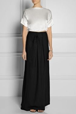 Band of Outsiders Satin and Crepe Maxi Dress