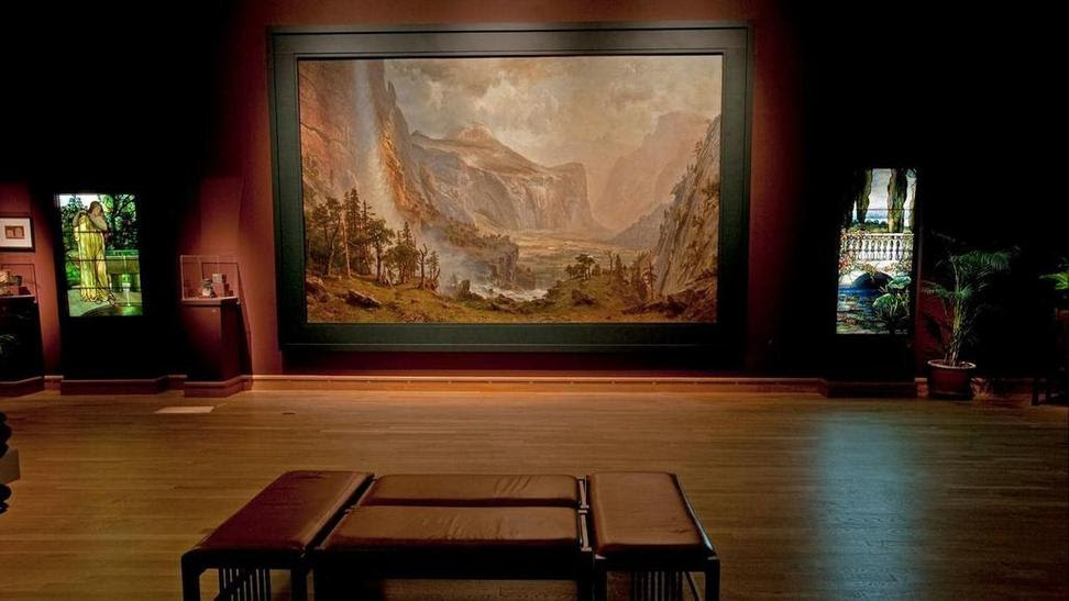 "Albert Bierstadt's ""The Domes of the Yosemite"" is on view at the Morse Museum of American Art in Winter Park, Fl.  until July 8, before returning to St.  Johnsbury (Vt.) Athenaeum."