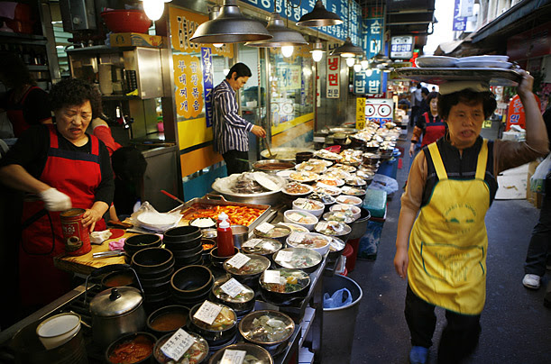 Image result for namdaemun market food