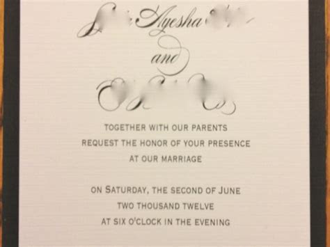 Civil Wedding Invitation Sample   Menshealtharts
