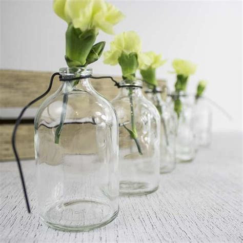 Hanging Glass Mini Bottles   Clear   1 set   My Wedding Store