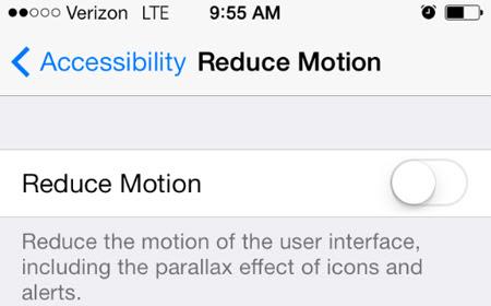 10. Tắt Parallax View trong iOS 7