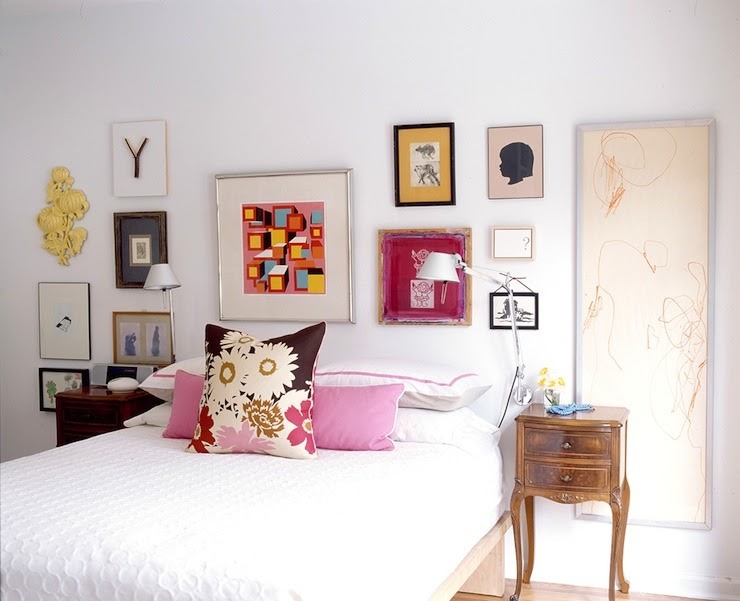 Awesome Eclectic Bedroom Gallery Wall images