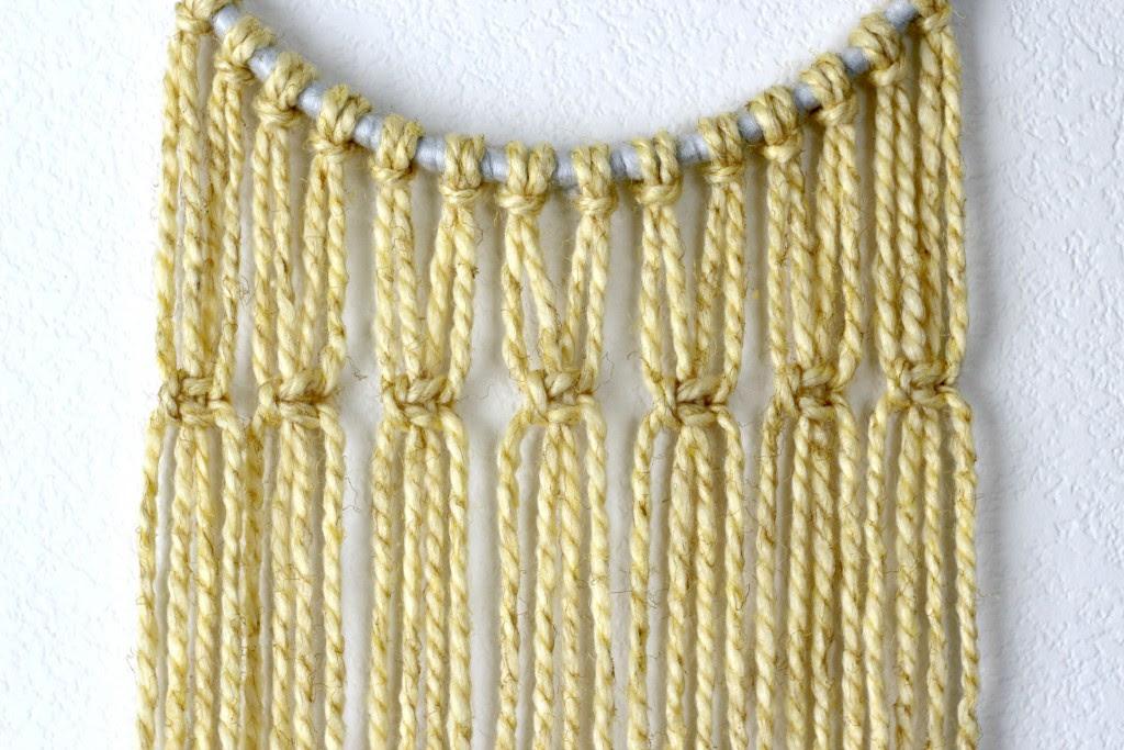 Macrame Wall Hanging first knots.1