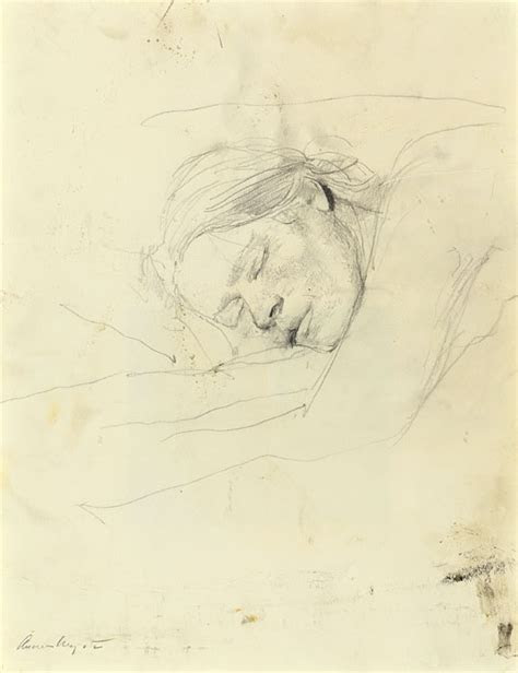andrew wyeth asleep drawings   morgan