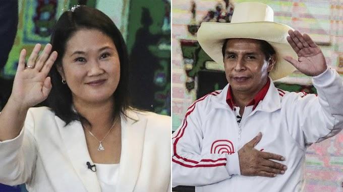 INCERTIDUMBRE EN PERÚ: LAS ENCUESTAS A BOCA DE URNA VATICINAN UN ESCENARIO MUY REÑIDO ENTRE FUJIMORI Y CASTILLO