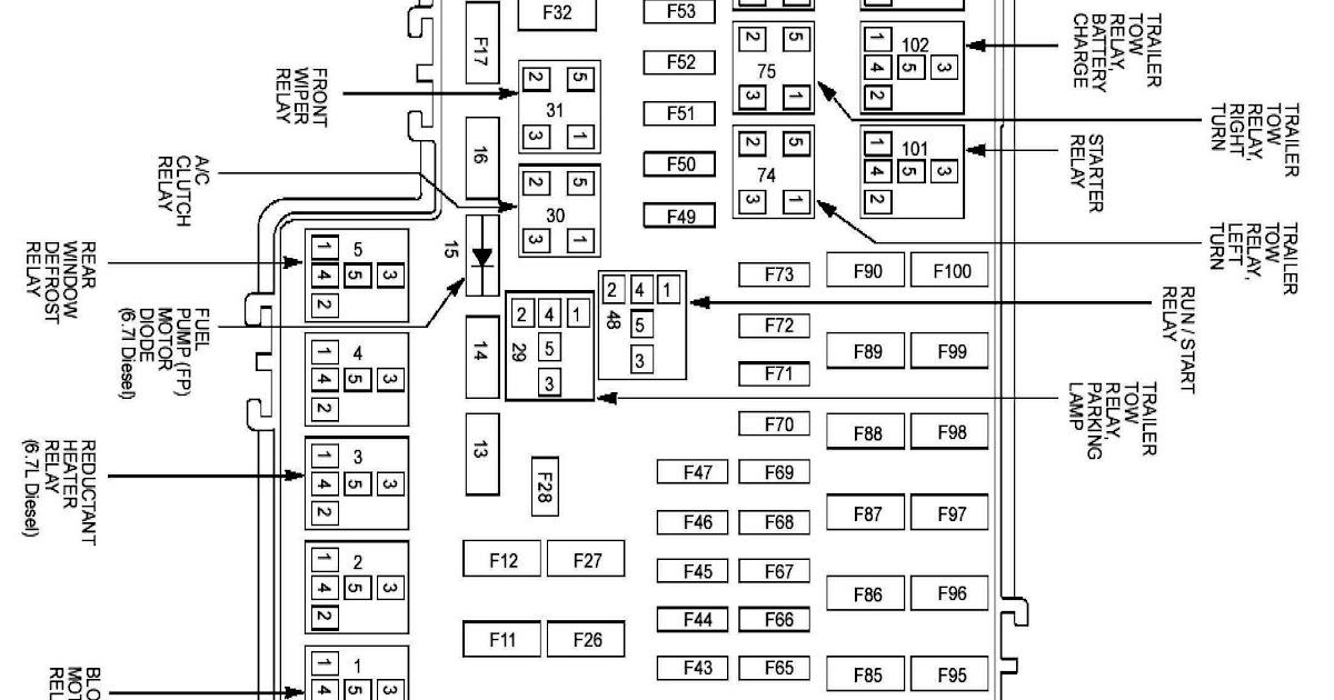 2012 Ford F350 Fuse Box Diagram Wiring Diagram
