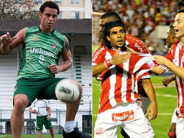 Fred repete boa atuação no Campeonato Brasileiro ; atacante Araújo está fora do jogo (Foto: Bruno Haddad / FluminenseFC / Aldo Carneiro / Pernambuco Press)