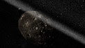 Artist's impression of ring system around asteroid Chariklo