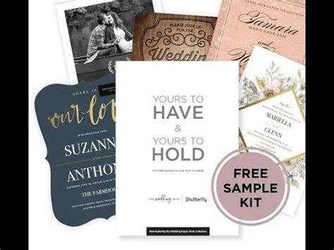 shutterfly wedding invitations samples kit opening youtube