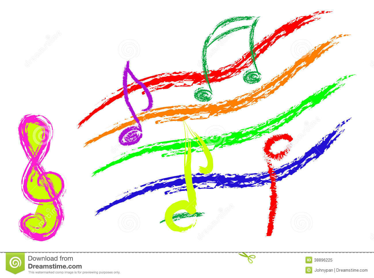 music notes sketch abstract style color 38896225