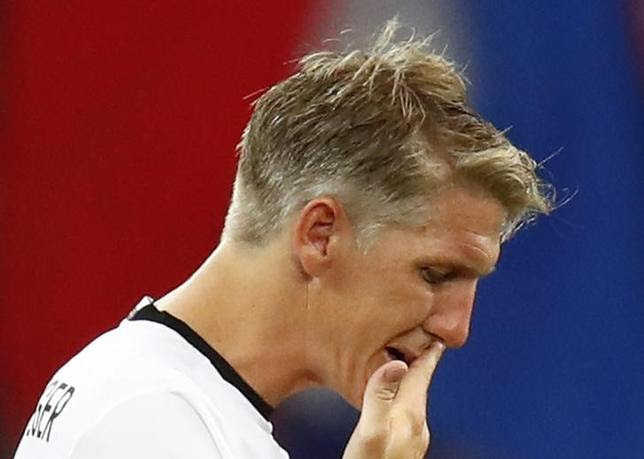 Football Soccer - Germany v France - EURO 2016 - Semi Final - Stade Velodrome, Marseille, France - 7/7/16Germany's Bastian Schweinsteiger reacts after the gameREUTERS/Kai PfaffenbachLivepic