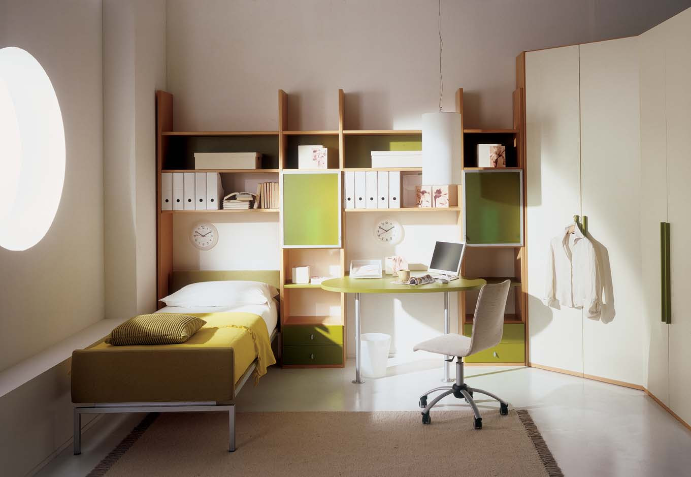 Kids Bedroom with Study Table - StyleHomes.