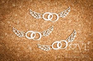 Tekturka - Obrączki ze skrzydłami 3szt. - Simple Wedding