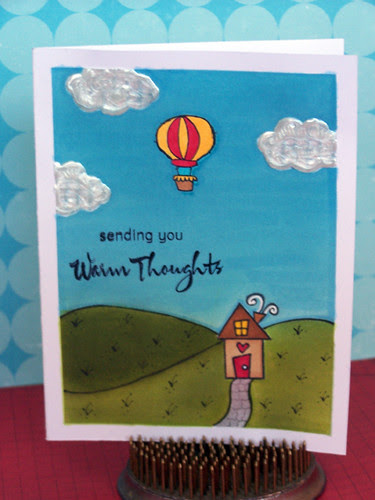 puffy cloud card