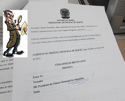 Adulteração em ofício encaminhado à Câmara revela indícios de sabotagem interna na prefeitura