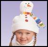 Snowman<br />  Hat     : Christmas Snowman Craft Activities