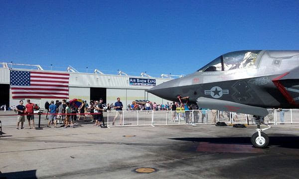A photo that I took of an F-35B Lightning II at the Miramar Marine Corps Air Station in San Diego, CA...on September 24, 2016.
