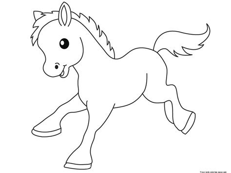 pony baby animals coloring pages  kidsfree printable