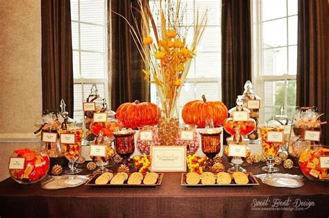 fall themed candy buffet   our wedding   Pinterest