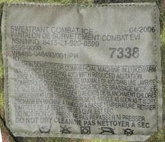 IECS Combat Trouser Detalle Etiqueta Mod.