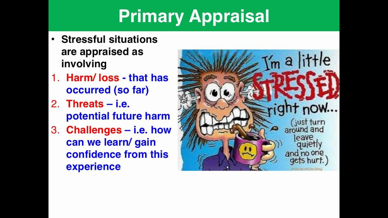 Lazarus & Folkman Transactional model of stress & coping ...