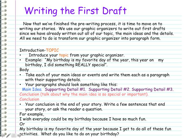 how to write a essay draft