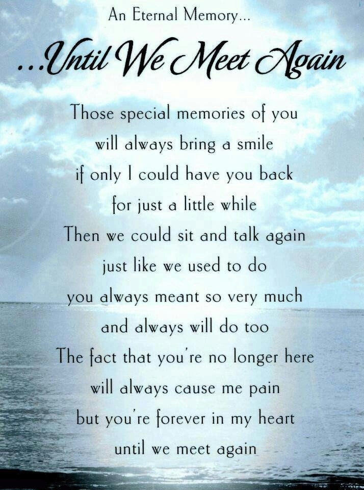 Until We Meet Again Pictures Photos And Images For Facebook