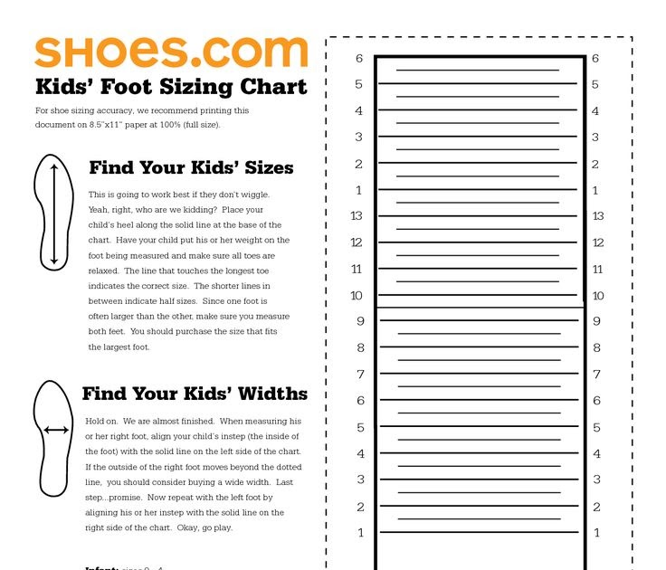Kids And Girls Shoes Kids Shoe Size Chart Printable