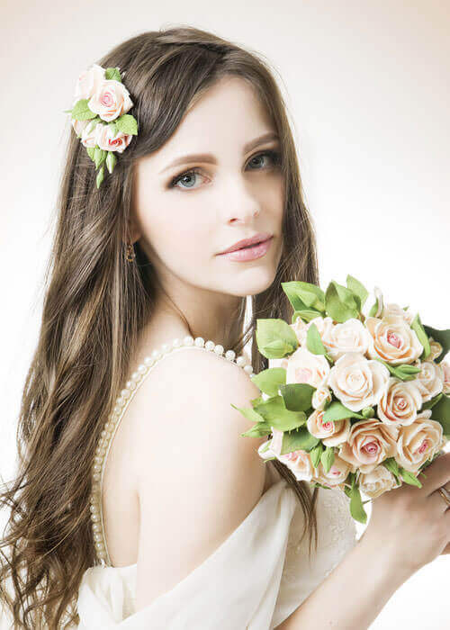 Natures Calling Loose Style for Wedding with Hairpiece