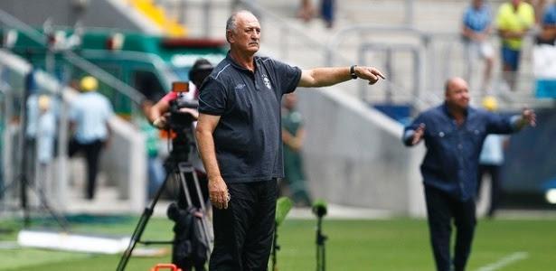 Felipão comanda Grêmio em derrota para o Veranópolis, neste sábado