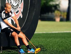 Emerson treino Corinthians (Foto: Marcos Ribolli / Globoesporte.com)