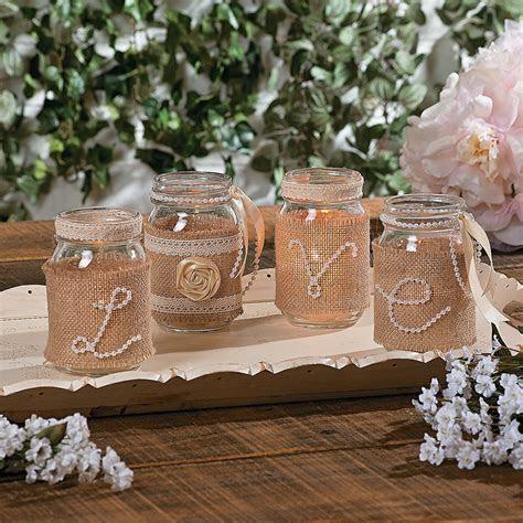 DIY wedding centerpieces, using pearls, burlap, ribbon and
