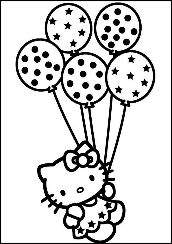 Ausmalbilder Hello Kitty Calendar June