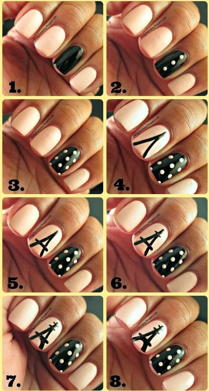 Chic Nail Tutorials for the Week - Pretty Designs @krorrer2 but without the middle finger design
