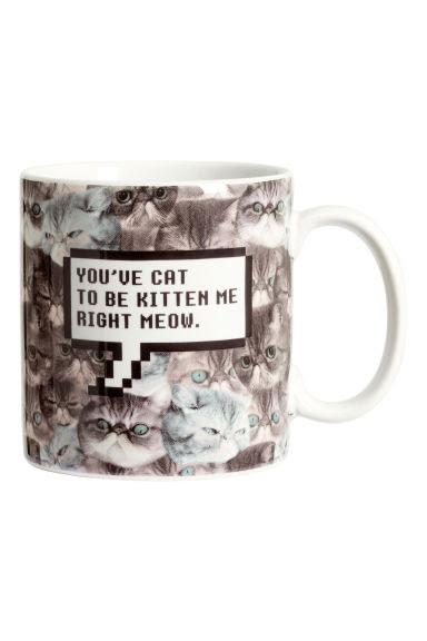 ceramiczny kubek z kotem do porannej kawy