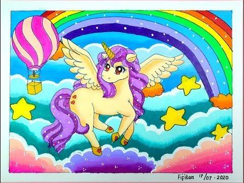 Gambar Kue Unicorn Untuk Mewarnai Literatur