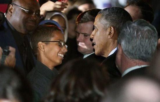 Hình ảnh Tổng thống Obama gặp cậu bé Hồi giáo chế bom đồng hồ số 3