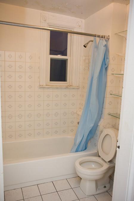 the bathroom - before