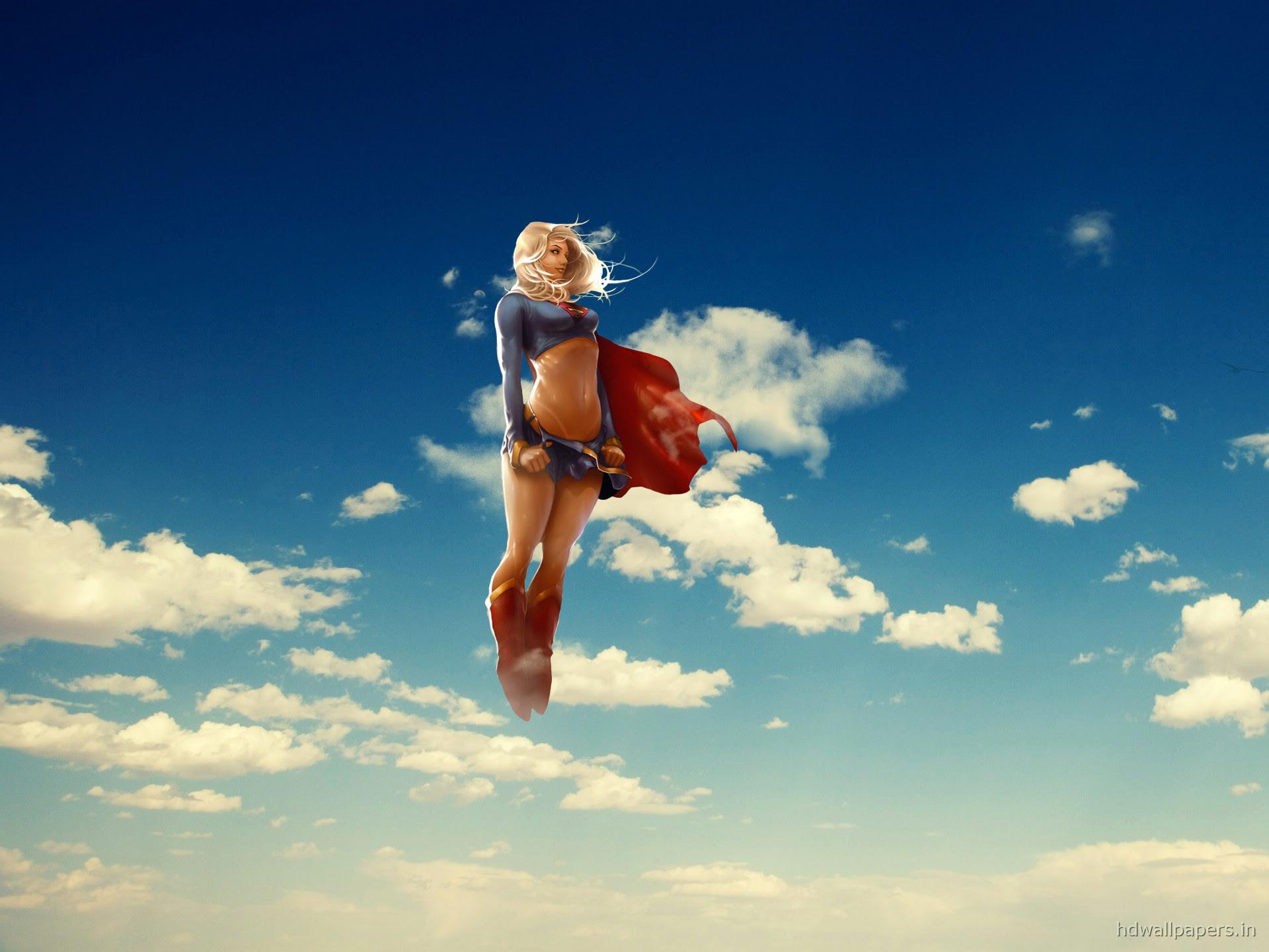 Desktop Super Girl Superman