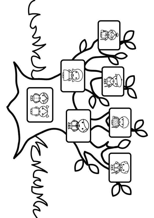 Dibujo Para Colorear árbol Genealógico Img 26873