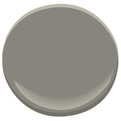 BM Chelsea Gray HC-168  Like a well-dressed gentleman, this gracefully urbane shade of grey adds a sophisticated, scholarly quality to a den or library. (This colour is part of our Candice Olson Designer Picks collection.)