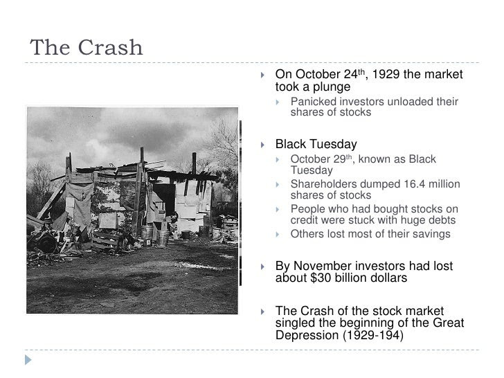 What were the important effects of the stock market crash ...