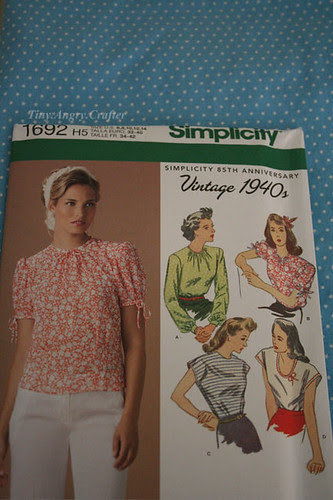 Blouse pattern + fabric