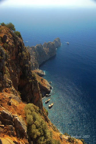 Sea view, from the top of Alanya Castle, Turkey