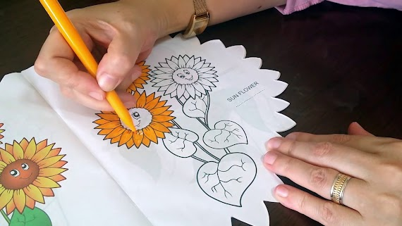 【Yazdırılabilir boyama sayfası!】 Ayçiçei Boyama Sayfas