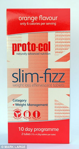 Slim-Fizz costs £20 for a ten-day supply