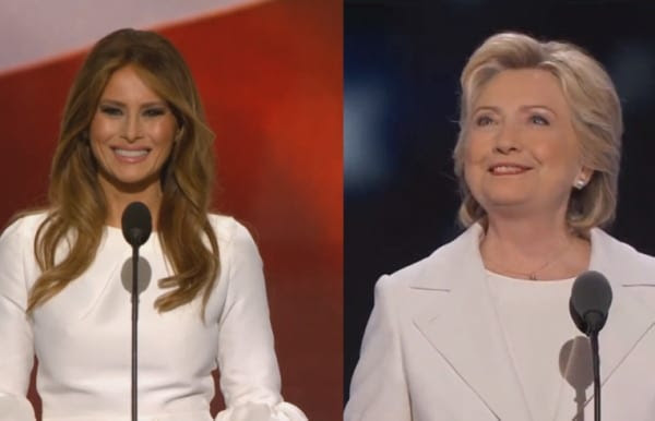 Melania and Hillary pic