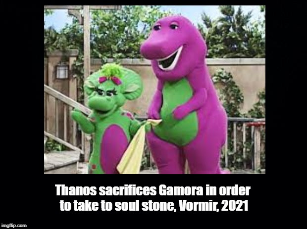 thanos sacrifices gamora volmir 2021  avengers